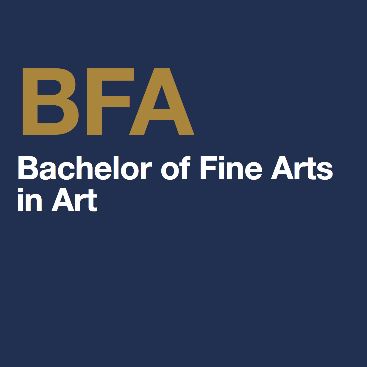 Scholarships For College Students 2016 >> Bachelor of Fine Arts in Art - Department of Art + Art History