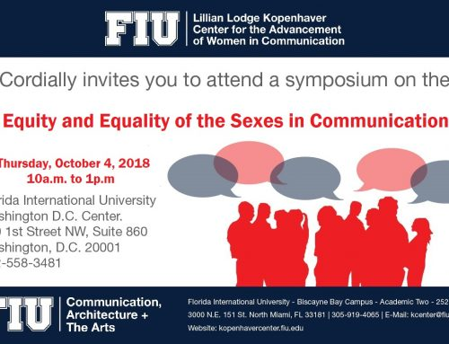 Equity and Equality of the Sexes in Communication