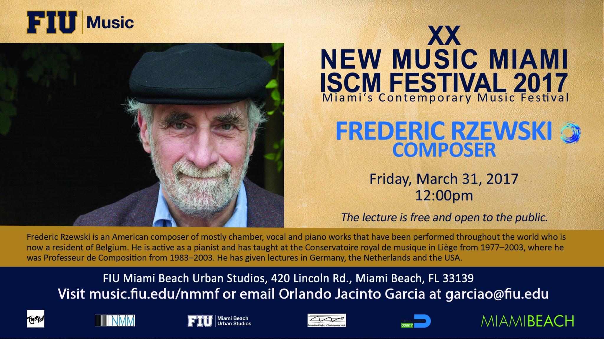 Forum: Music Composition Forum with Frederic Rzewski - Miami