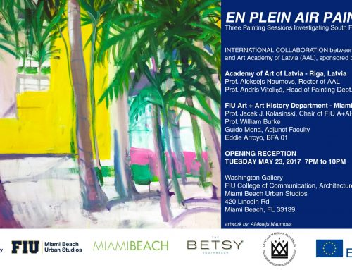 En Plein Air Painting—Three Painting Sessions Investigating South Florida Landscapes