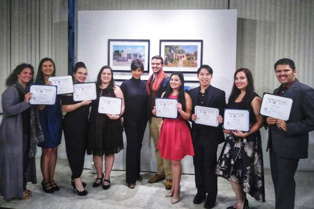 Eight voice students win first prize in NATS Competition
