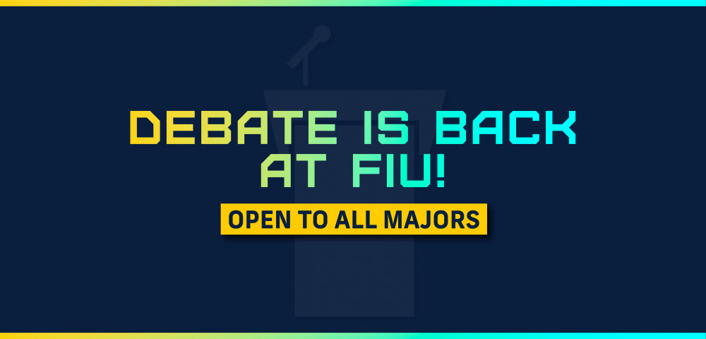 Debate is back at FIU!