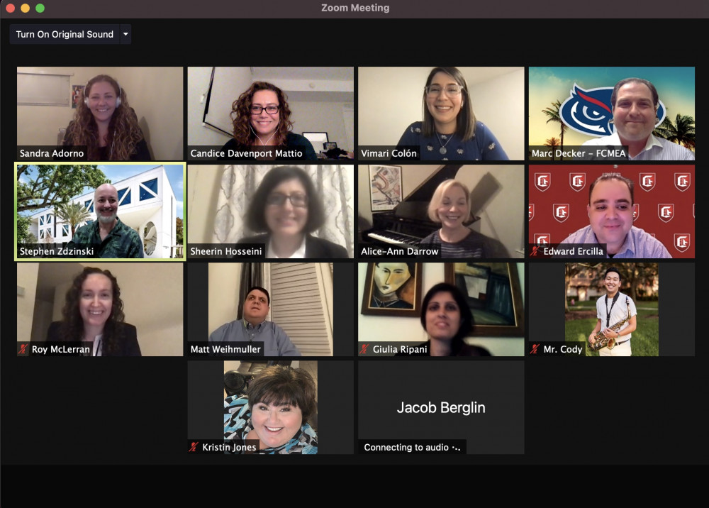 School of Music Faculty, Alum, and Students Present at 2021 Virtual FMEA Conference and All-State Experience