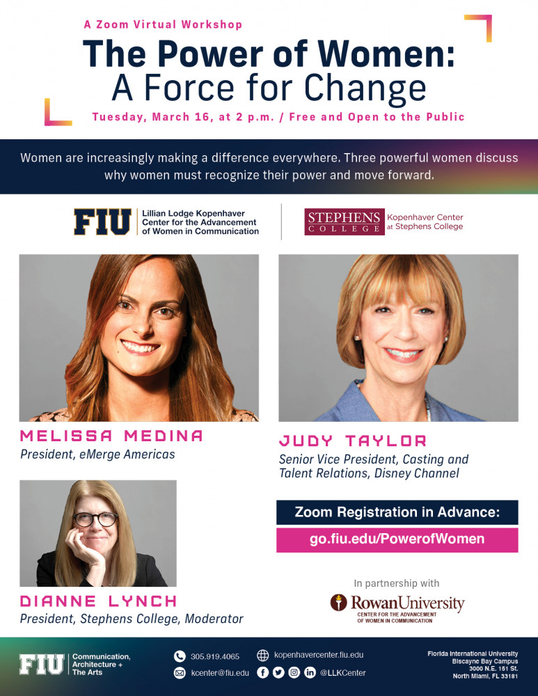 Zoom Virtual Workshop- The Power of Women: A Force for Change
