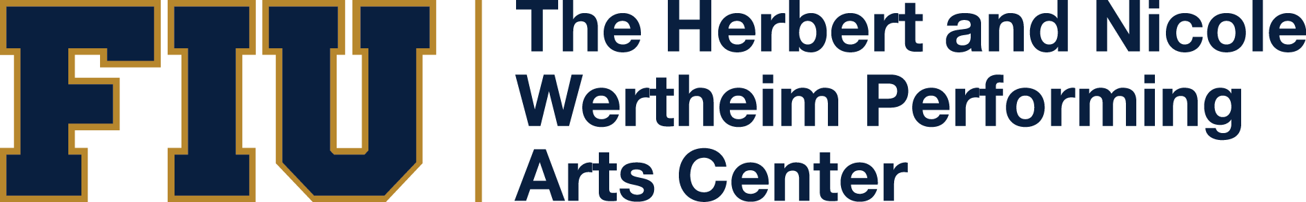 The Herbert and Nicole Wertheim Performing Arts Center Logo